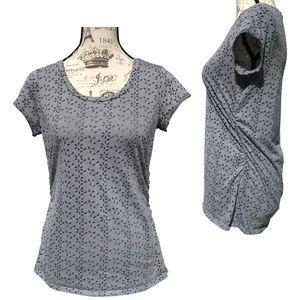 ♛5/$25♛ Simply Vera Wang Sheer Shirt Ruched Top M